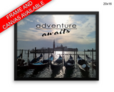 Adventure Print, Beautiful Wall Art with Frame and Canvas options available Photography Decor
