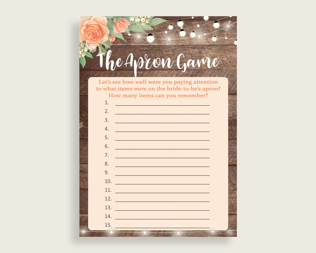 The Apron Game Bridal Shower The Apron Game Rustic Bridal Shower The Apron Game Bridal Shower Flowers The Apron Game Brown Beige SC4GE