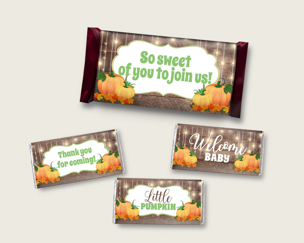 Candy Wrappers Baby Shower Hershey Wrappers Autumn Baby Shower Candy Wrappers Baby Shower Autumn Hershey Wrappers Brown Orange party 0QDR3 - Digital Product