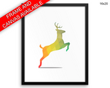 Woodland Deer Print, Beautiful Wall Art with Frame and Canvas options available Nursery Decor