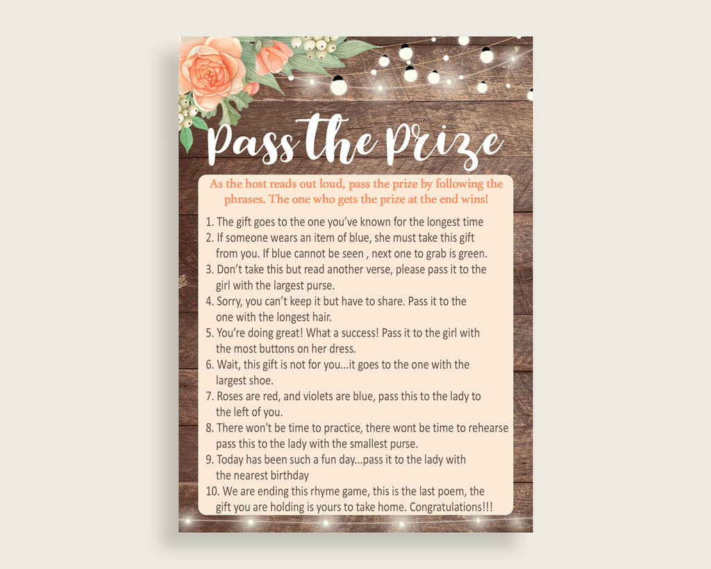 Pass The Prize Bridal Shower Pass The Prize Rustic Bridal Shower Pass The Prize Bridal Shower Flowers Pass The Prize Brown Beige party SC4GE