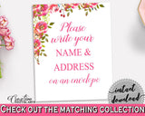 Addressing Sign Bridal Shower Addressing Sign Spring Flowers Bridal Shower Addressing Sign Bridal Shower Spring Flowers Addressing UY5IG - Digital Product