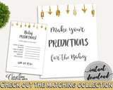 Baby Predictions Baby Shower Baby Predictions Gold Arrows Baby Shower Baby Predictions Baby Shower Gold Arrows Baby Predictions Gold I60OO - Digital Product