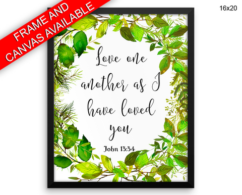 Love One Another Print, Beautiful Wall Art with Frame and Canvas options available John Decor
