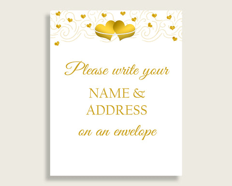 Addressing Sign Bridal Shower Addressing Sign Gold Hearts Bridal Shower Addressing Sign Bridal Shower Gold Hearts Addressing Sign 6GQOT