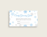 Candy Guessing Baby Shower Candy Guessing Snowflake Baby Shower Candy Guessing Blue Gray Baby Shower Snowflake Candy Guessing prints NL77H