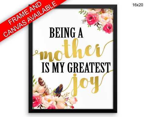 Mom Print, Beautiful Wall Art with Frame and Canvas options available Mother Decor