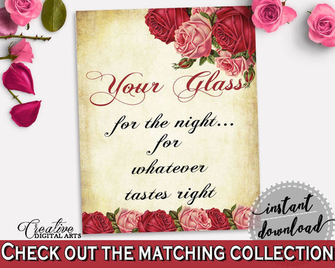 Your Glass For The Night Bridal Shower Your Glass For The Night Vintage Bridal Shower Your Glass For The Night Bridal Shower Vintage XBJK2 - Digital Product