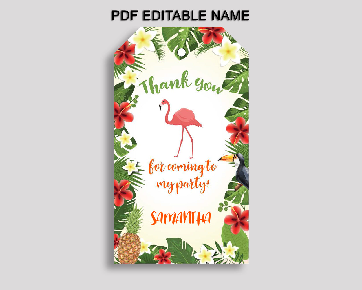 Tropical Favor Tags Green Yellow Party Tags Tropical Birthday Tags Tropical Thank You Tags Boy Girl 8LFM8