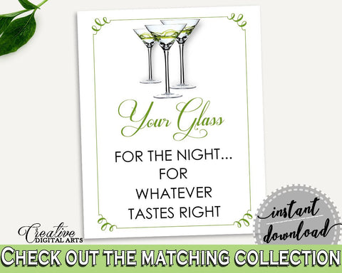 Your Glass For The Night Bridal Shower Your Glass For The Night Modern Martini Bridal Shower Your Glass For The Night Bridal Shower ARTAN - Digital Product