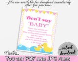 Dont Say Baby Baby Shower Dont Say Baby Rubber Duck Baby Shower Dont Say Baby Baby Shower Rubber Duck Dont Say Baby Purple Pink rd001