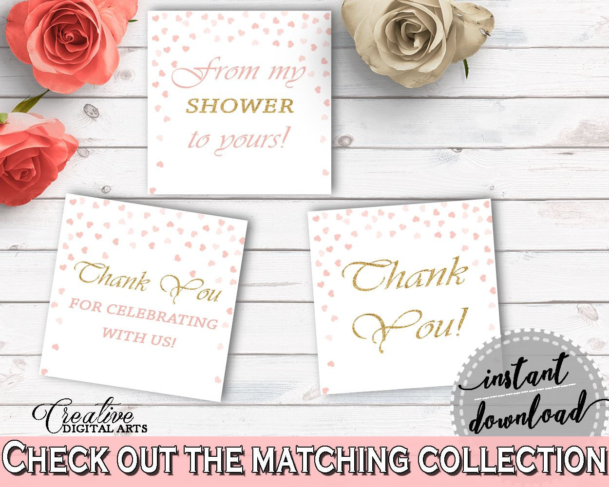 Favor Tags Bridal Shower Favor Tags Pink And Gold Bridal Shower Favor Tags Bridal Shower Pink And Gold Favor Tags Pink Gold - XZCNH - Digital Product