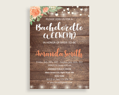 Bachelorette Weekend Invitation Bridal Shower Bachelorette Weekend Invitation Rustic Bridal Shower Bachelorette Weekend Invitation SC4GE