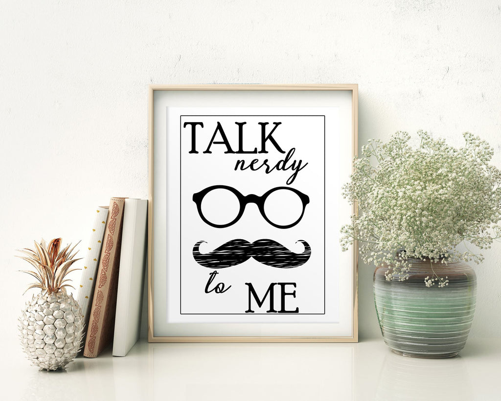 Wall Decor Nerdy Printable Talk Prints Nerdy Sign Talk Funny Art Talk Funny Print Nerdy Printable Art Nerdy Style Quote Instagood Barber - Digital Download