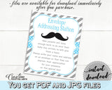 Blue Gray Envelope Addressing, Baby Shower Envelope Addressing, Mustache Baby Shower Envelope Addressing, Baby Shower Mustache 9P2QW - Digital Product