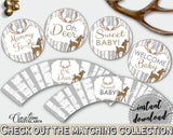 Cupcake Toppers And Wrappers Baby Shower Cupcake Toppers And Wrappers Deer Baby Shower Cupcake Toppers And Wrappers Baby Shower Deer Z20R3 - Digital Product