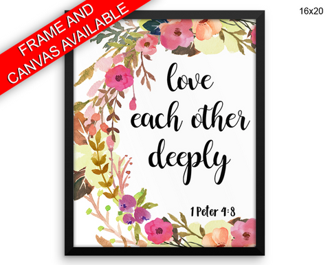 Scripture Bible Print, Beautiful Wall Art with Frame and Canvas options available  Decor