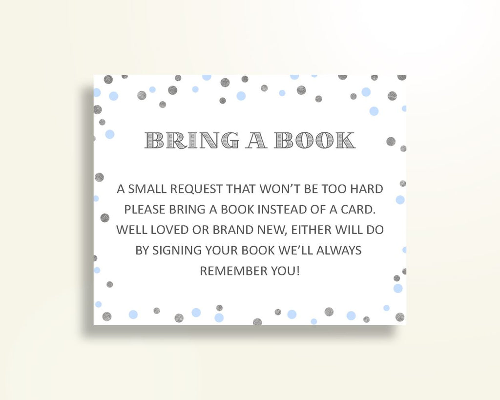 Bring A Book Baby Shower Bring A Book Blue And Silver Baby Shower Bring A Book Blue Silver Baby Shower Blue And Silver Bring A Book OV5UG - Digital Product