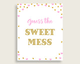 Sweet Mess Baby Shower Sweet Mess Hearts Baby Shower Sweet Mess Baby Shower Hearts Sweet Mess Pink Gold party decor printables bsh01