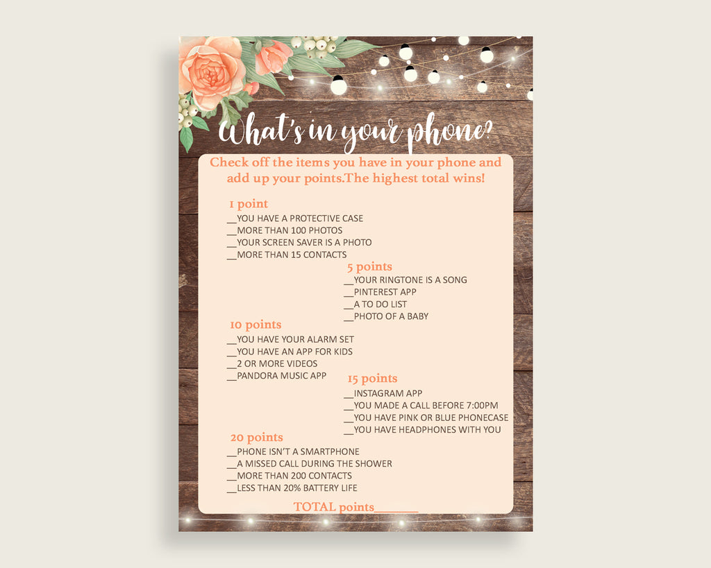 What's In Your Phone Bridal Shower What's In Your Phone Rustic Bridal Shower What's In Your Phone Bridal Shower Flowers What's In Your SC4GE