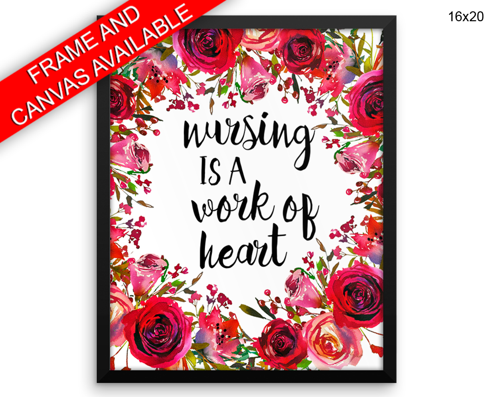 Nursing Print, Beautiful Wall Art with Frame and Canvas options available Nursery Decor