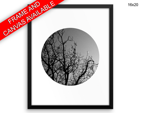 Trees Dusk Print, Beautiful Wall Art with Frame and Canvas options available Photography Decor