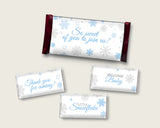 Candy Wrappers Baby Shower Hershey Wrappers Snowflake Baby Shower Candy Wrappers Blue Gray Baby Shower Snowflake Hershey Wrappers NL77H