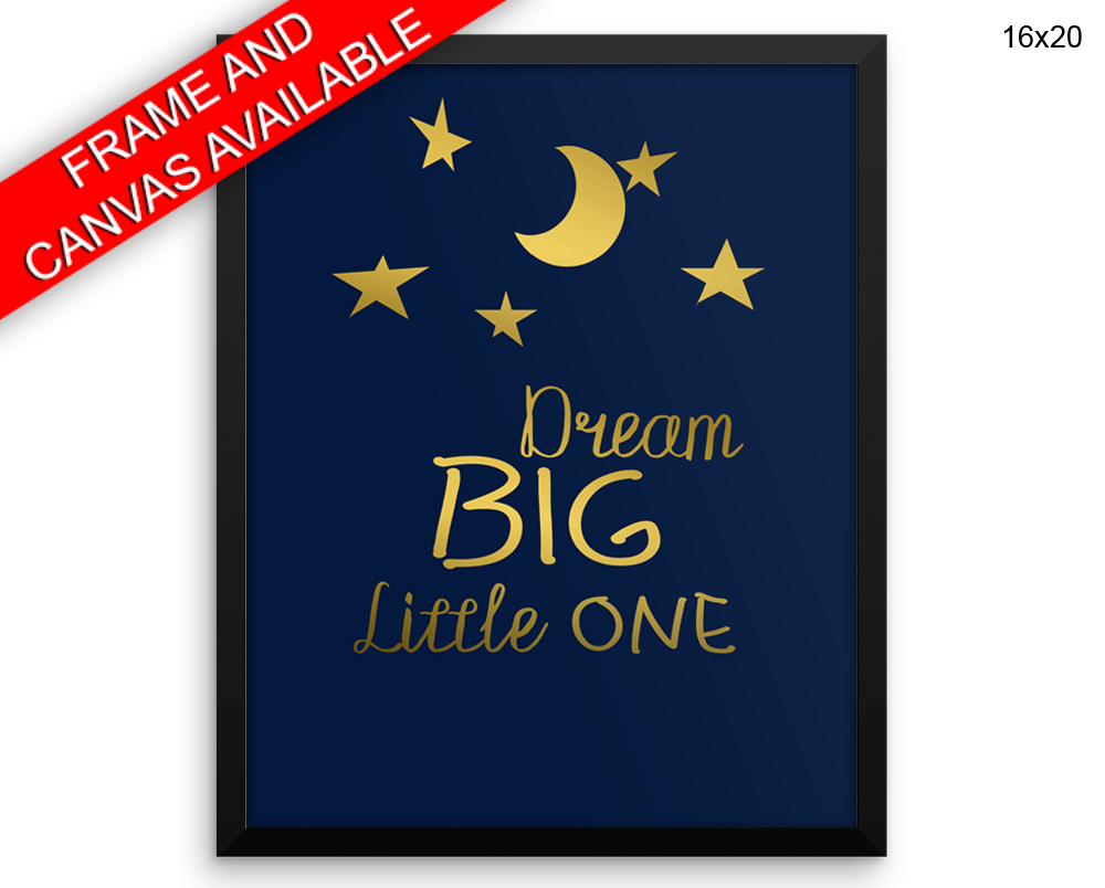 Nursery Dreams Print, Beautiful Wall Art with Frame and Canvas options available  Decor