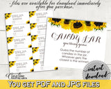 Candy Guessing Game Bridal Shower Candy Guessing Game Sunflower Bridal Shower Candy Guessing Game Bridal Shower Sunflower Candy SSNP1 - Digital Product