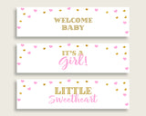 Bottle Labels Baby Shower Bottle Labels Hearts Baby Shower Bottle Labels Baby Shower Hearts Bottle Labels Pink Gold party ideas bsh01
