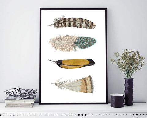 Wall Art Feathers Digital Print Feathers Poster Art Feathers Wall Art Print Feathers Home Art Feathers Home Print Feathers Wall Decor - Digital Download