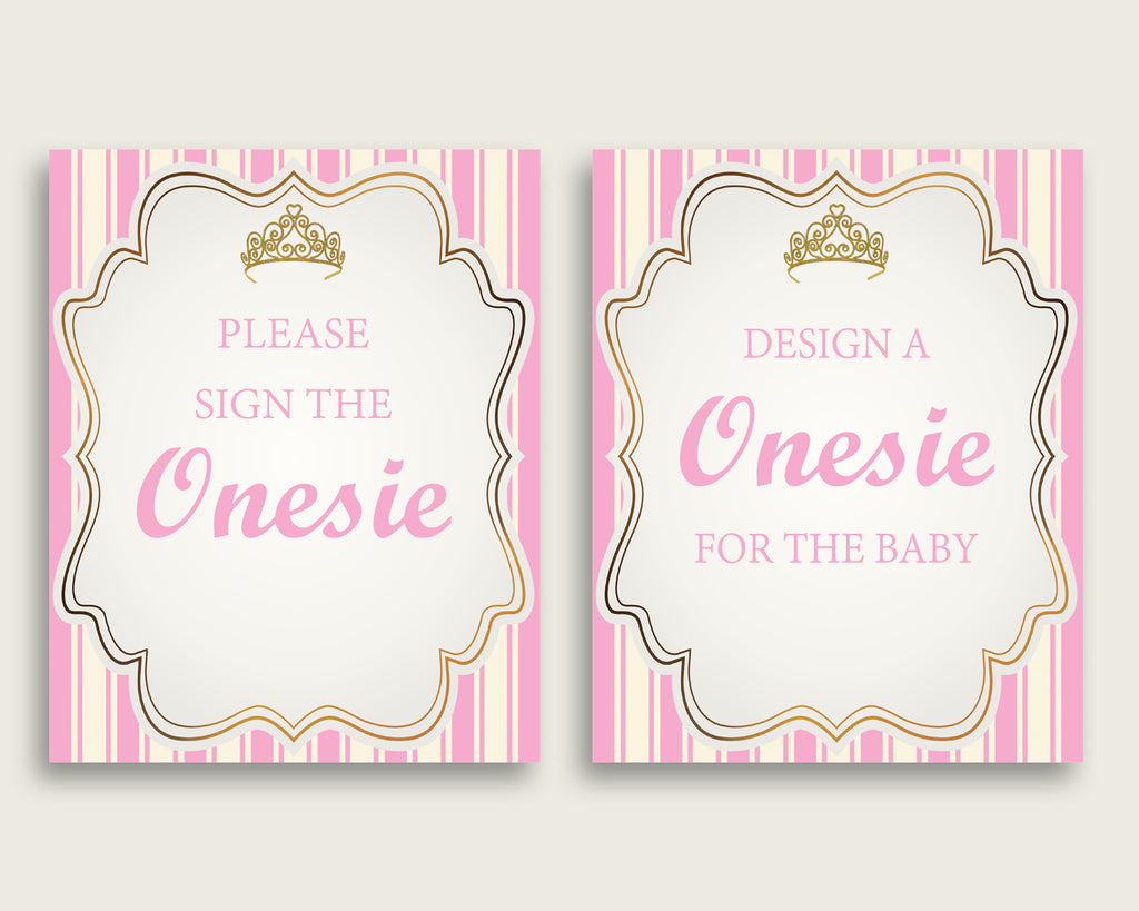 Sign The Onesie Baby Shower Design A Onesie Royal Princess Baby Shower Sign The Onesie Baby Shower Royal Princess Design A Onesie Pink rp002