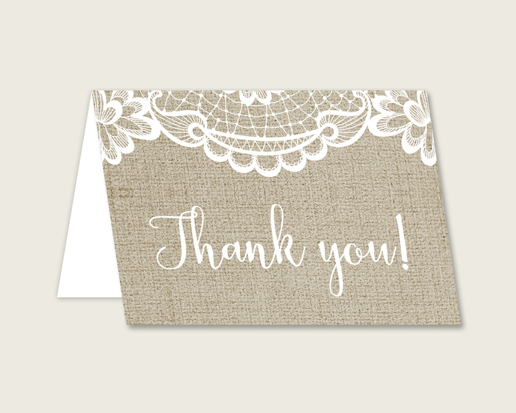 Thank You Card Bridal Shower Thank You Card Burlap And Lace Bridal Shower Thank You Card Bridal Shower Burlap And Lace Thank You Card NR0BX