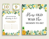 Green Yellow How Old Was The Mommy To Be, Gender Neutral Baby Shower Game Printable, Tropical Guess Mommy's Age Game, Instant 4N0VK