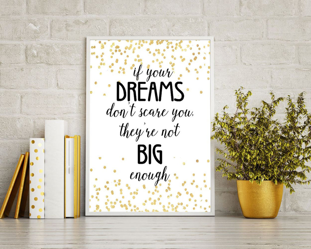 Wall Art Dreams Digital Print Dreams Poster Art Dreams Wall Art Print Dreams Motivation Art Dreams Motivation Print Dreams Wall Decor Dreams - Digital Download