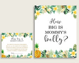 Green Yellow How Big Is Mommy's Belly Game, Tropical Baby Shower Gender Neutral, Guess Mommys Belly Size, Mommy Tummy Game, Instant 4N0VK