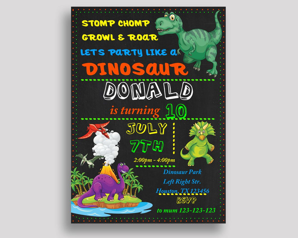 Dinosaur Birthday Invitation Dinosaur Birthday Party Invitation Dinosaur Birthday Party Dinosaur Invitation Boy Girl for boy for girl IIUCH - Digital Product