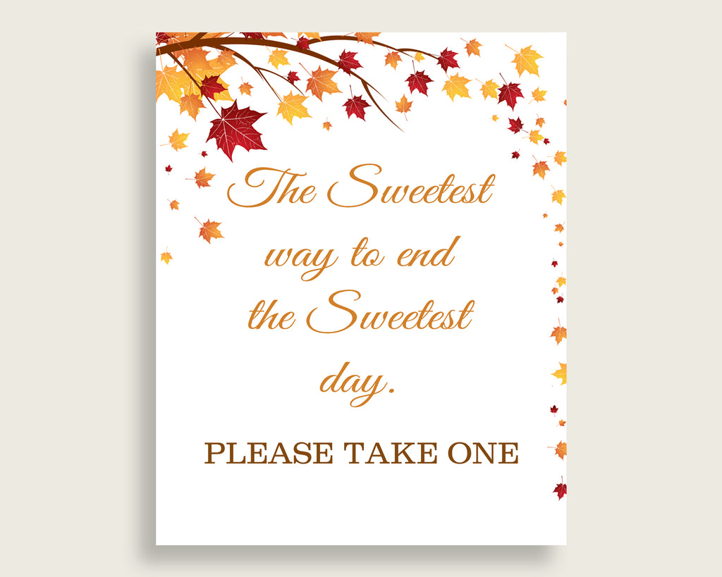 Sweetest Way Bridal Shower Sweetest Way Fall Bridal Shower Sweetest Way Bridal Shower Autumn Sweetest Way Brown Yellow printables YCZ2S