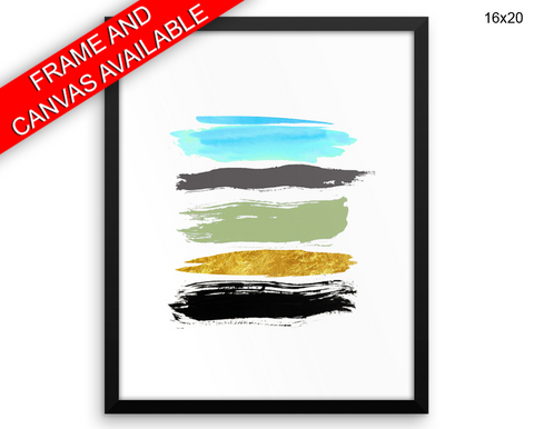 Abstract Brush Print, Beautiful Wall Art with Frame and Canvas options available Living Room Decor