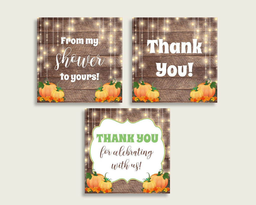 Thank You Tags Baby Shower Thank You Tags Autumn Baby Shower Thank You Tags Baby Shower Autumn Thank You Tags Brown Orange prints 0QDR3 - Digital Product