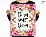 Dorm Sweet Dorm Print, Beautiful Wall Art with Frame and Canvas options available Student Decor