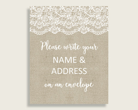 Addressing Sign Bridal Shower Addressing Sign Burlap And Lace Bridal Shower Addressing Sign Bridal Shower Burlap And Lace Addressing NR0BX