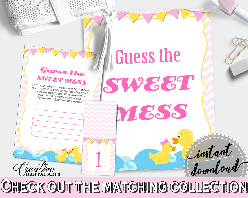 Sweet Mess Baby Shower Sweet Mess Rubber Duck Baby Shower Sweet Mess Baby Shower Rubber Duck Sweet Mess Purple Pink digital download rd001
