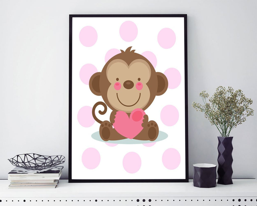 Wall Art Monkey Digital Print Monkey Poster Art Monkey Wall Art Print Monkey Nursery Art Monkey Nursery Print Monkey Wall Decor Monkey - Digital Download