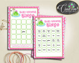 Baby Prince Charming Baby Shower Animals Unique Game Calling Mat BINGO60 CARDS GAME, Party Organization, Party Supplies - bsf01 - Digital Product