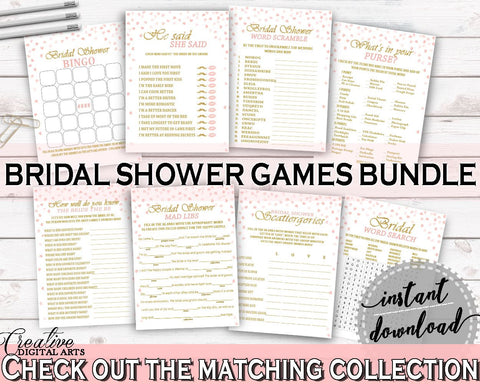 Games Bridal Shower Games Pink And Gold Bridal Shower Games Bridal Shower Pink And Gold Games Pink Gold - XZCNH - Digital Product