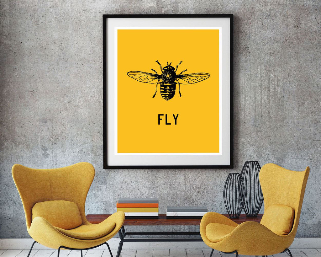 Wall Art Fly Digital Print Fly Poster Art Fly Wall Art Print Fly Home Art Fly Home Print Fly Wall Decor Fly insect - Digital Download