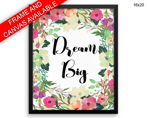 Dream Print, Beautiful Wall Art with Frame and Canvas options available Nursery Decor
