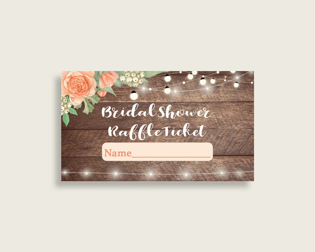 Raffle Ticket Bridal Shower Raffle Ticket Rustic Bridal Shower Raffle Ticket Bridal Shower Flowers Raffle Ticket Brown Beige prints SC4GE