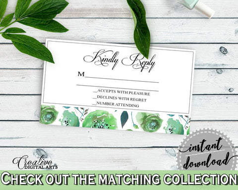 Invitation Insert Bridal Shower Invitation Insert Botanic Watercolor Bridal Shower Invitation Insert Bridal Shower Botanic Watercolor 1LIZN - Digital Product